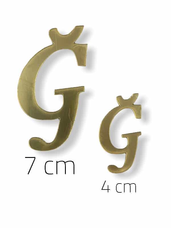Gold Plexi Letter (Ğ)