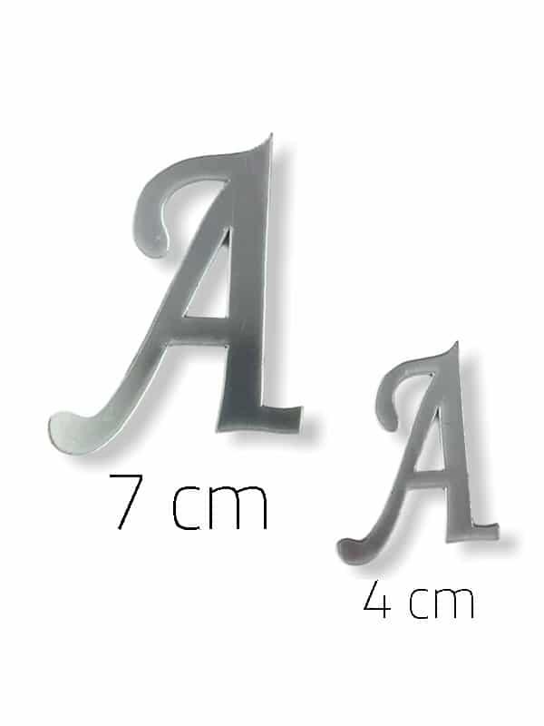 Silver Plexi Letter (A)