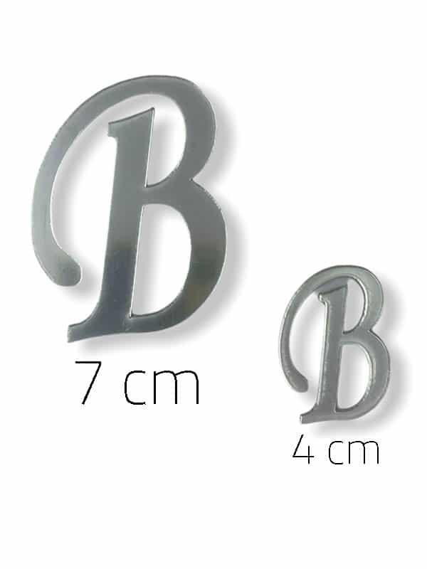 Silver Plexi Letter (B)
