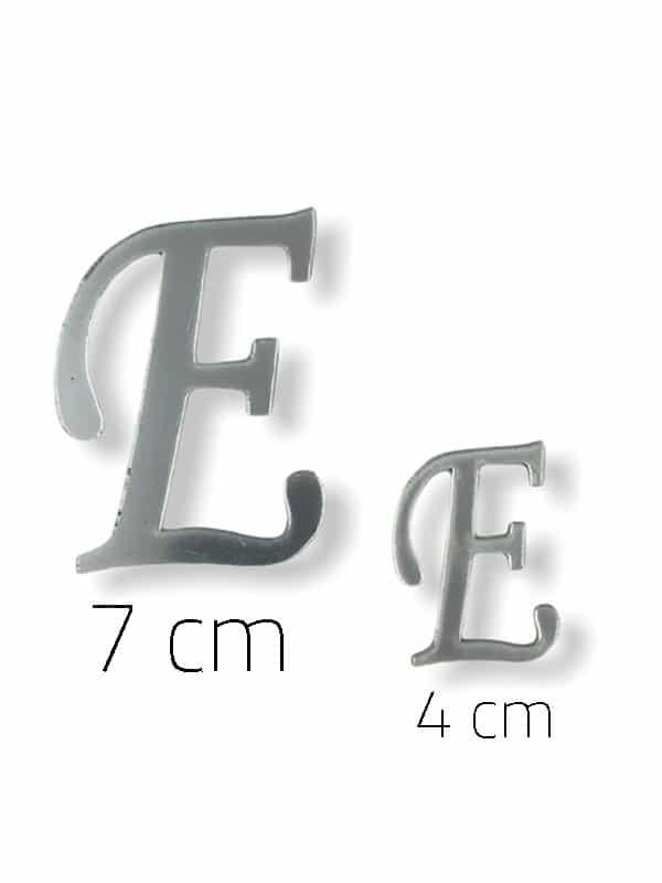 Silver Plexi Letter (E)