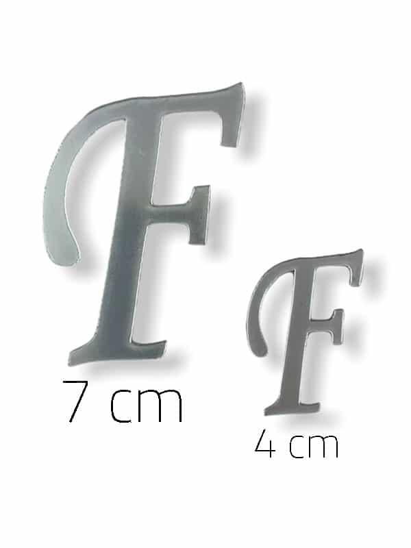 Silver Plexi Letter (F)