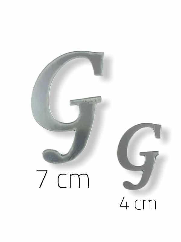 Silver Plexi Letter (G)