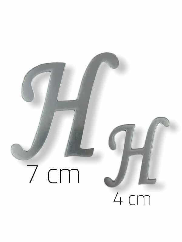 Silver Plexi Letter (H)
