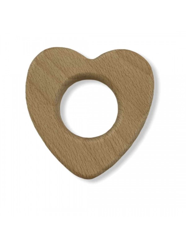 Natural Wooden Tooth Scratchy-Heart