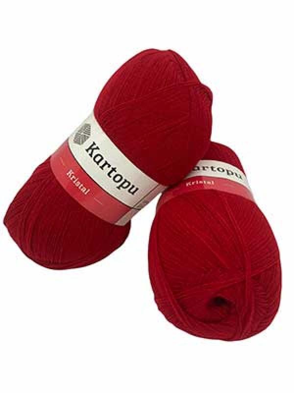 Kartopu Fiber Knitting Yarn-Red