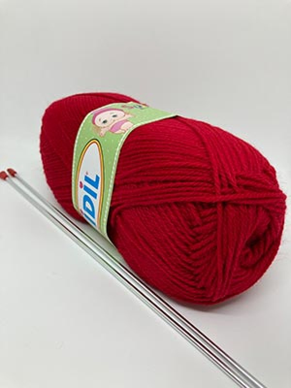 İDİL Baby Knitting Yarn-Dark Red