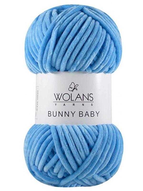 Bunny Baby Velvet Yarn-Blue