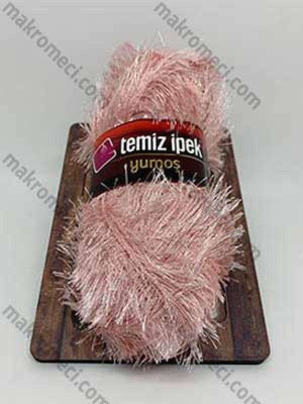 Yumos Polyester Knitting Yarn-Powder Pink