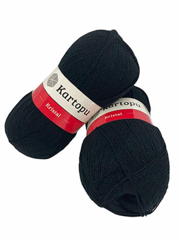 Kartopu Fiber Knitting Yarn-Black